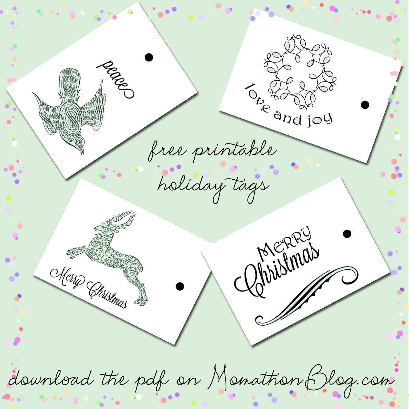 momathon blog two christmas gift box printables santa and reindeer