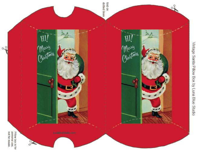Momathon Blog: Two Christmas Gift Box Printables {Santa and Reindeer}