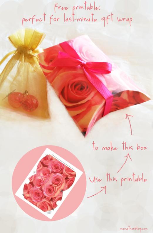 momathon blog valentine s day printable pink roses box