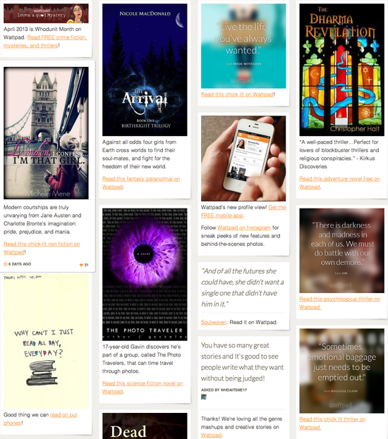 Wattpad on Tumblr