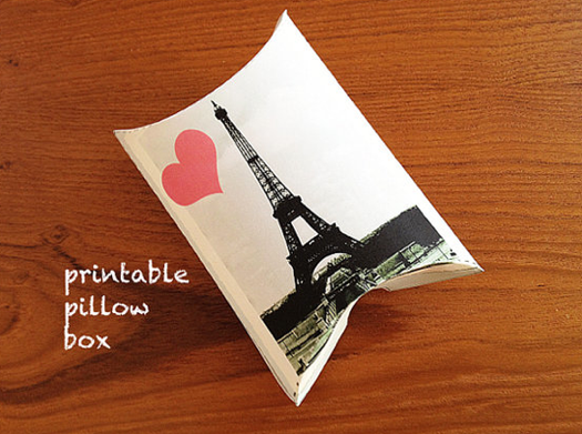Printable Gift Box: I heart Paris (Etsy)