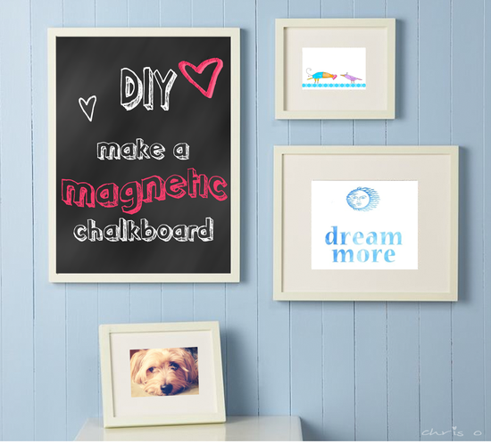 DIY: How to make a magnetic chalkboard