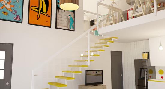 yellow_stairway