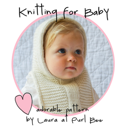 Purl bee-baby hoodie-circle badge*