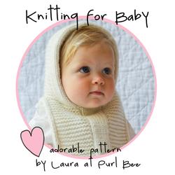 Purl bee-baby hoodie-circle badge*
