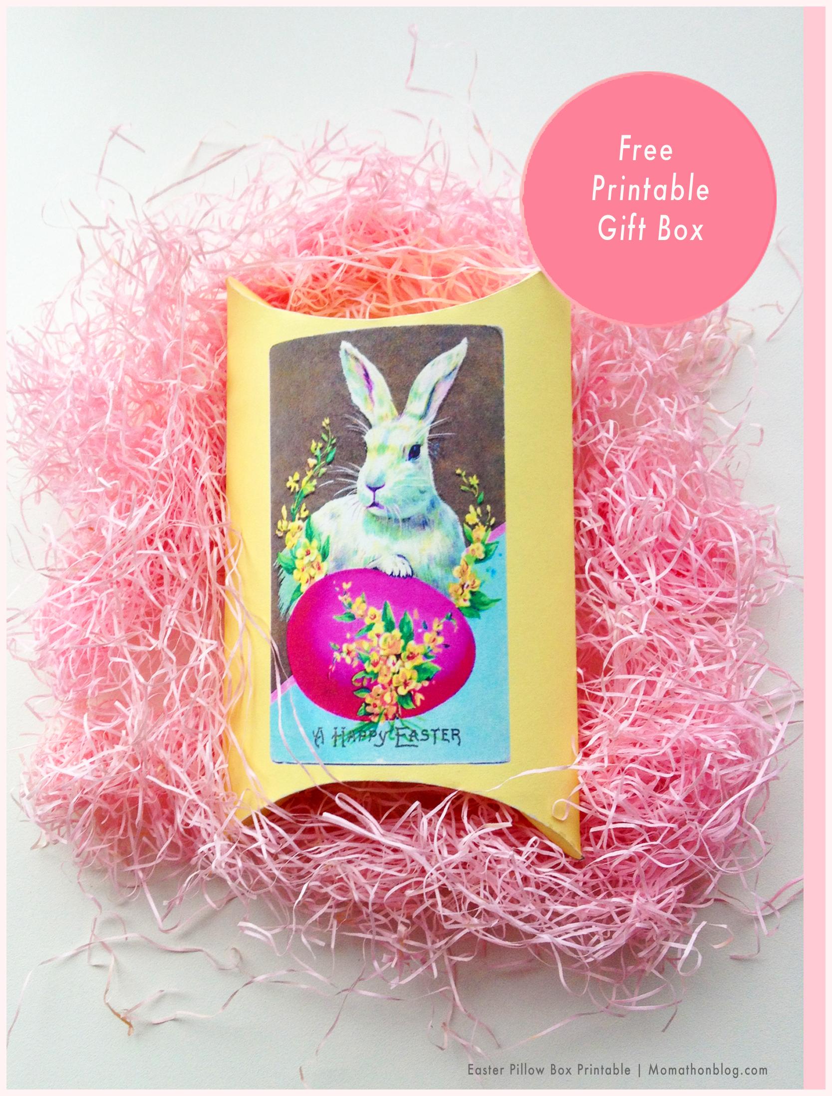 Momathon blog easter bunny gift box free printable freeeasterprintable negle Choice Image