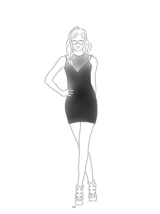 Mesh_Ponte_Dress_by Hunter_Bell_on_Fashion_Star