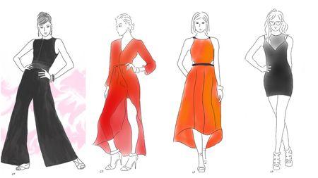 Fashion Star runway sketches