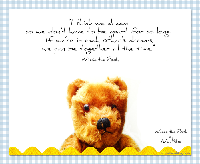 Winnie-the-Pooh quote about dreams