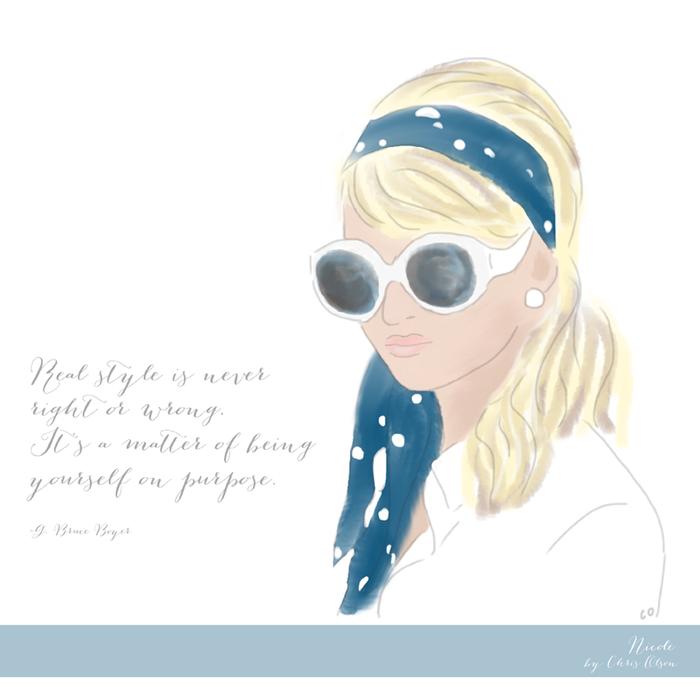 Nicole Richie illustration by Chris Olson
