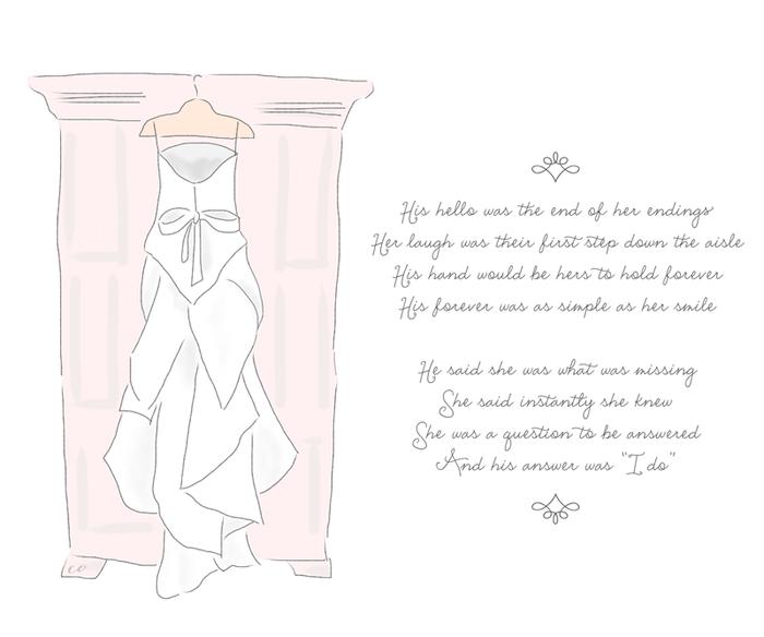Wedding toast, bobbie thomas wedding dress