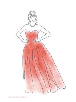 Zooey Deschanel in Oscar de la Renta gown