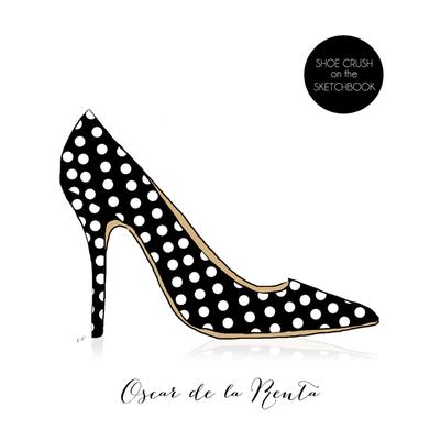 Oscar de la Renta Polka dot shoe
