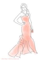 Jessica Alba wearing Oscar de la Renta