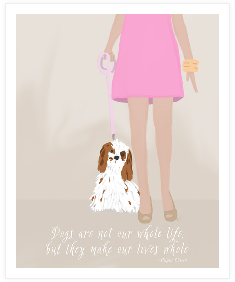 Dog print by Chris at Pet Love Designs on Etsy