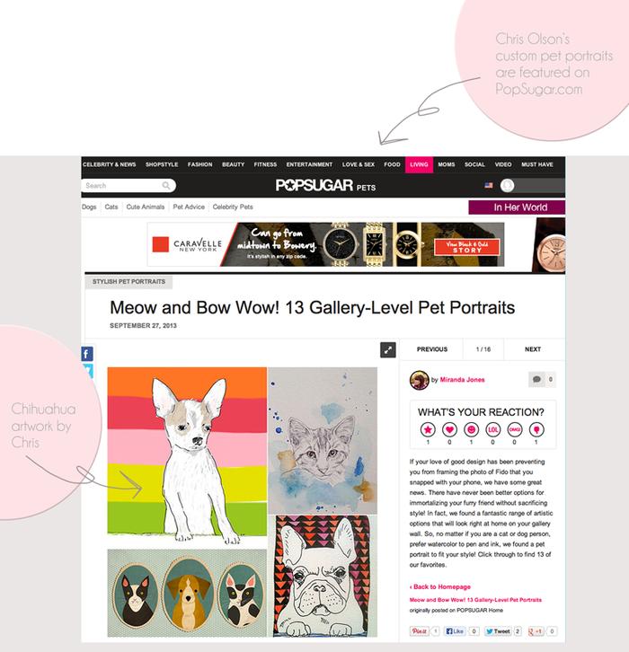 Gallery-level pet portraits on PopSugar