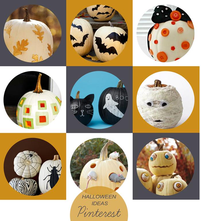 No-carve Halloween Pumpkins via Pinterest