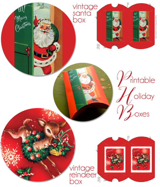 free printable Christmas gift box