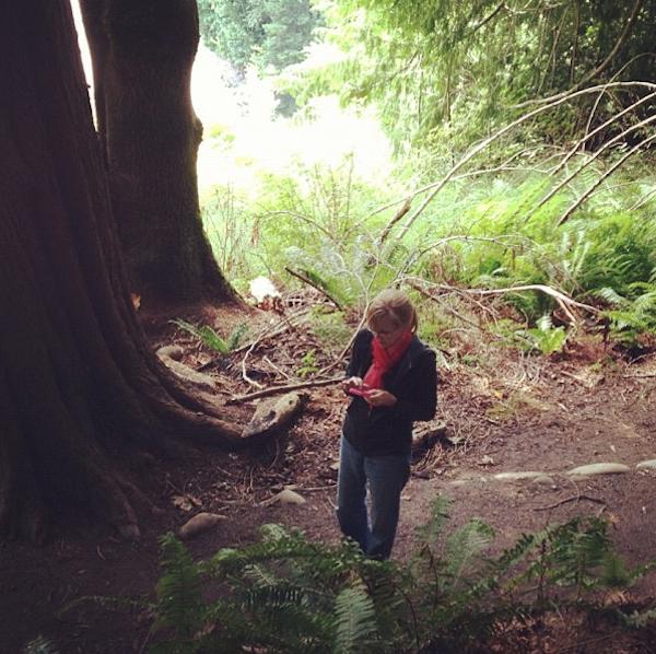 Chris on a hike