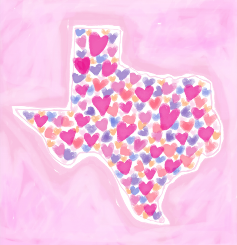 State of Texas Hurricane Harvey art by Chris Olson