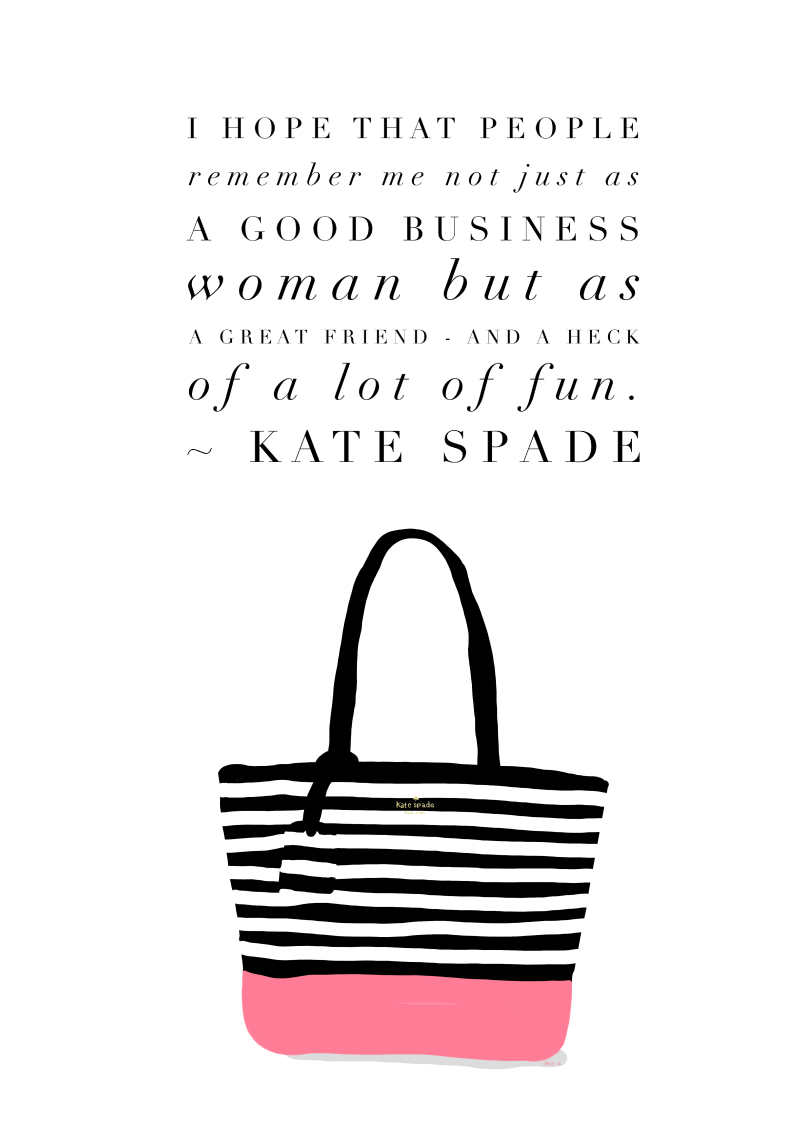 Kate Spade quote-art by Chris Olson
